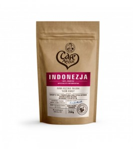 KAWA INDONEZJA FLORES ZIARNO  250G CAFE