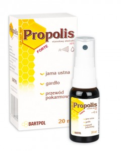 KROPLE PROPOLISOWE DO ROZPYLANIA SPRAY Z APLIKATOREM 20ML BARTPOL