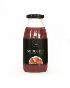 SMOOTHIE W BUTELCE  TRUSKAWKA & MACA  250ML FOODS BY ANN