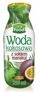 WODA KOKOSOWA Z Sokiem z MARAKUI 250ML LOOK FOOD